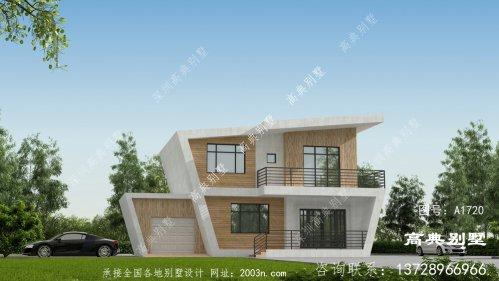 大气又时尚的现代风格两层别墅