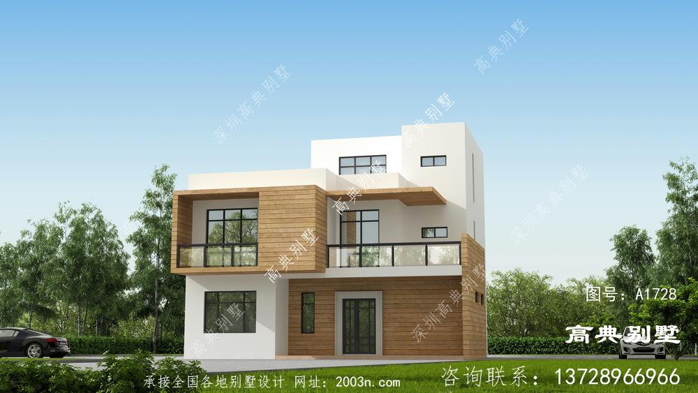 现代风格三层别墅外观设计图