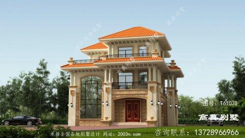 欧式风格三层优雅舒适别墅设计外观效果图