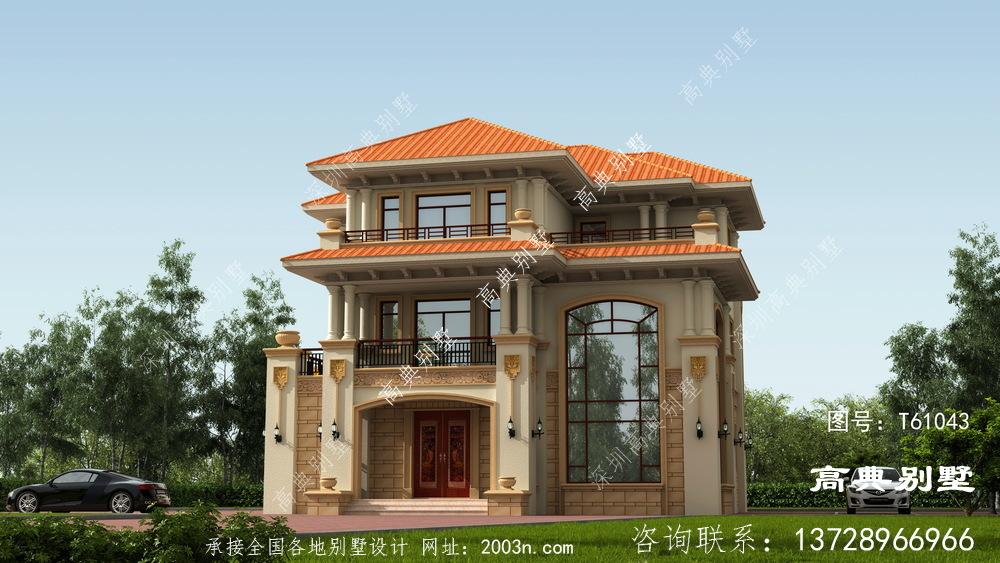 乡村三层欧式复式漂亮别墅设计图纸