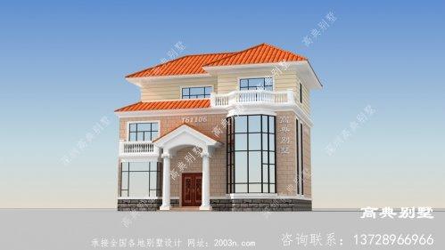 欧式风格三层精巧别墅设计图纸