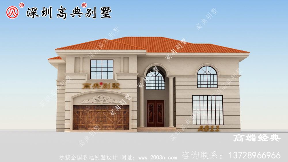 两层简欧风别墅设计图,功能齐全,样式美观。农村自建房