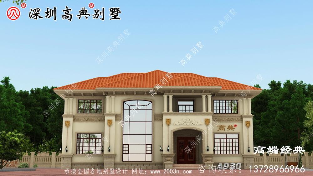 二层别墅设计图,选一款别墅建在老家,经济又实用