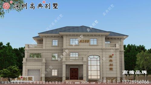 农村建房248.04平方设计图,外观时