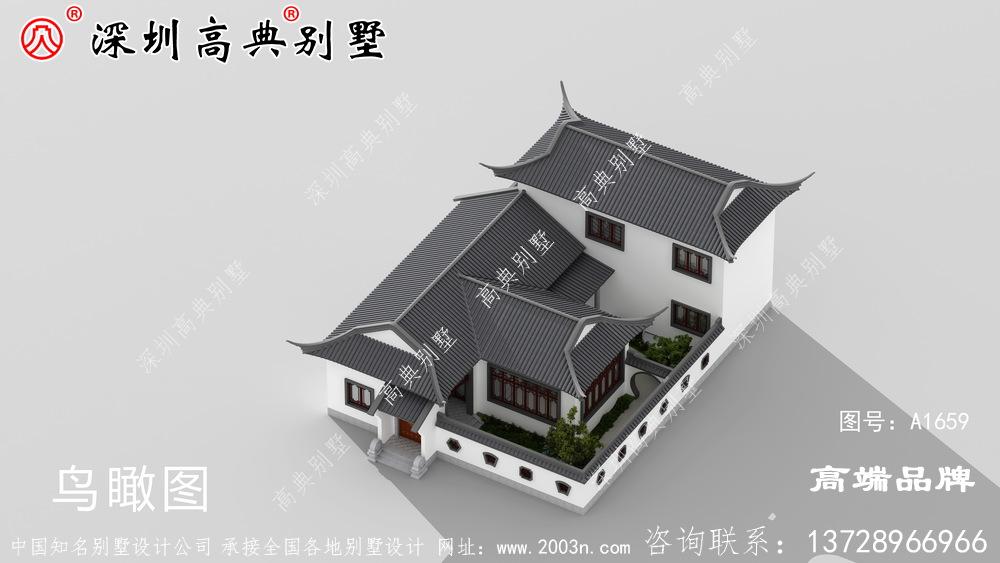 农村自建别墅设计图,院子,一家人坐在院子里其乐融融