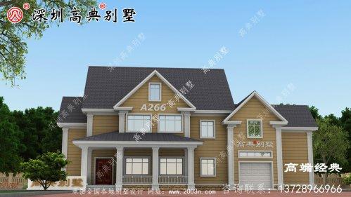 新款二层自建房外观图,不仅外观好看,室内布