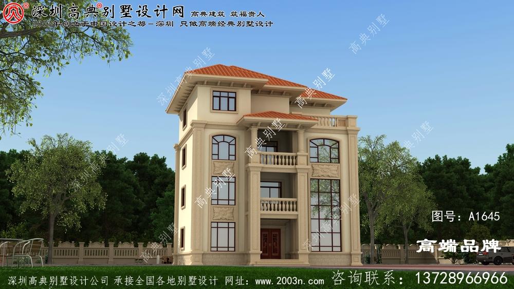 四层别墅 ,外观 雅致 ,内部 布局 适宜 居住 。回乡 建一座 里子 都有 面子