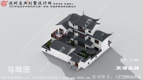 中国最美的三层建筑四合院设计图
