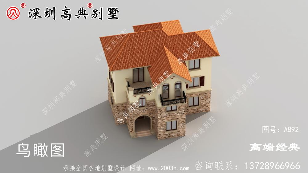 欧式三楼别墅的设计图,决不过时的设计,拿豪宅都不换。