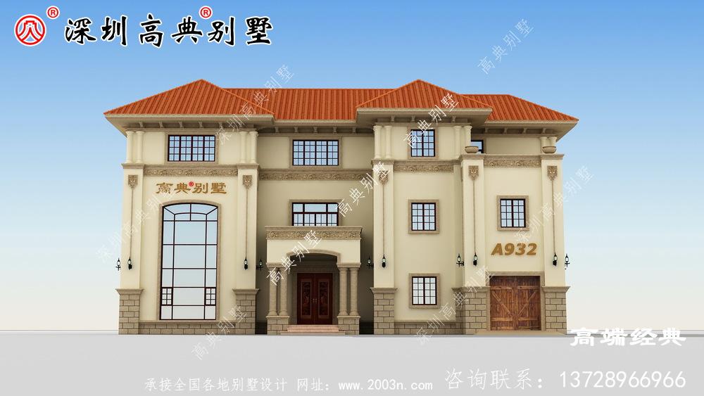 乡村三楼自营住宅照片,养老别墅就得这样建。