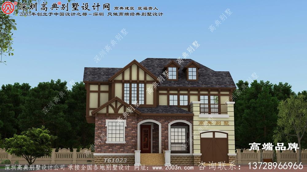 三层新中式挑空自建房设计图,大户人家的别墅,视野开阔