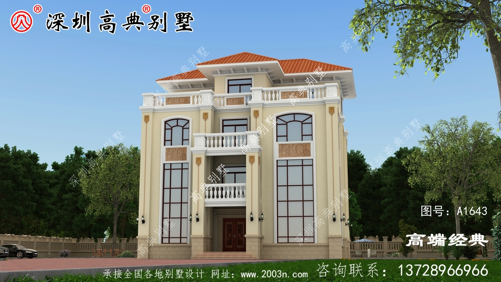 乡村四层漂亮的建筑设计,比城堡还漂亮,你觉得呢?