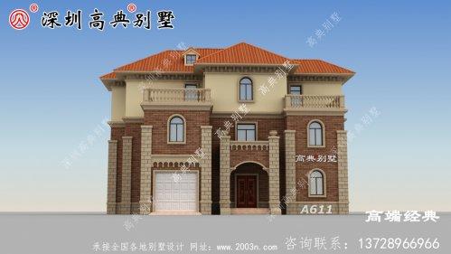 广东乡村自建房图,简洁大气,想低调都不行。