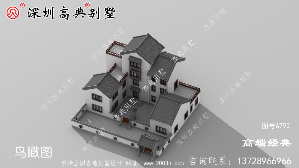 新农村自建房设计图及效果图,外观优雅。
