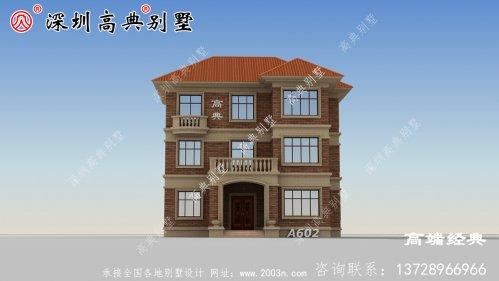 红棕色外墙砖作为别墅外部材料,