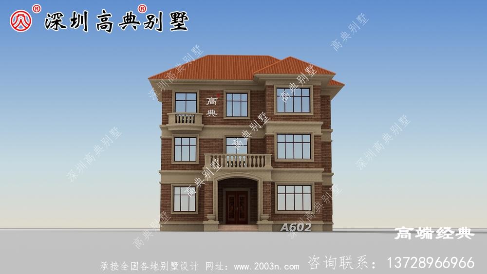 红棕色外墙砖作为别墅外部材料,更显气韵