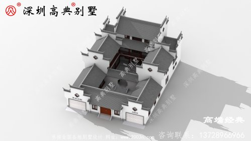乡村欧式三层自建房设计图样,