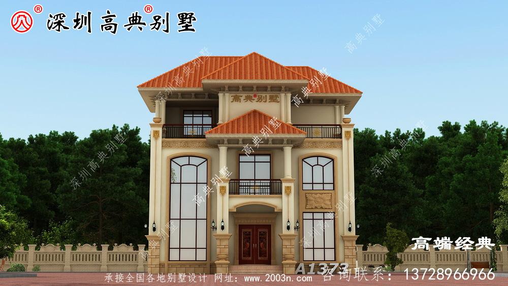 乡村二层半楼的设计图,比在城里买一套便宜多了。