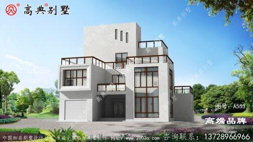 农村别墅复式落地窗设计提升整体