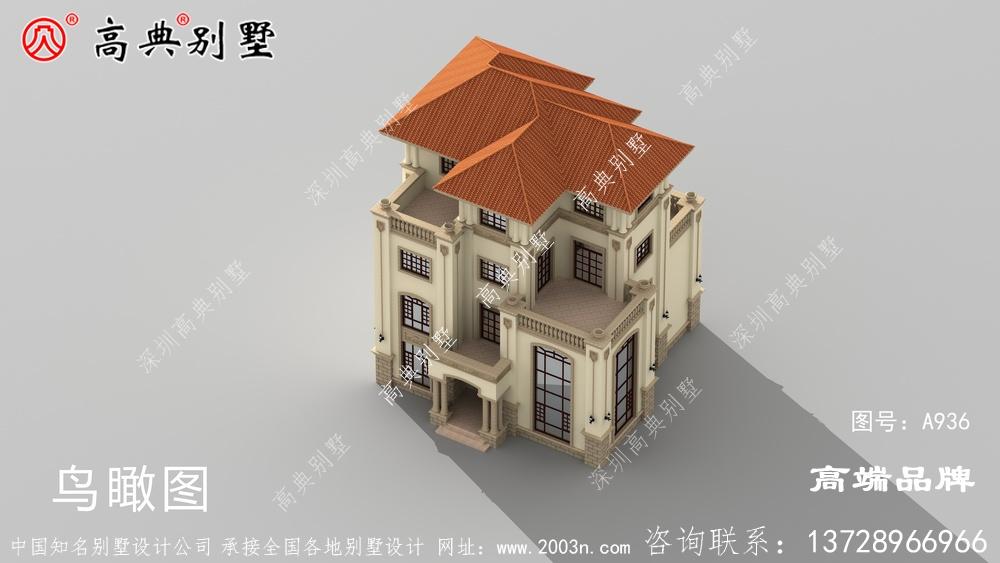 别墅分层装饰,阳台和露台错落有致