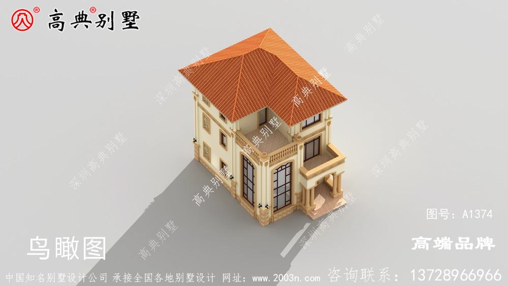 小宅基地的朋友有救了!快来看看这个超漂亮欧式三层别墅