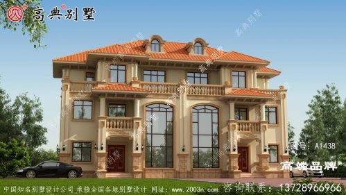 深橘坡屋顶错落有致,建在老家就