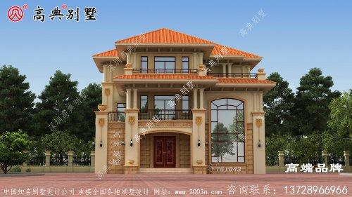 别墅外观主要用米黄色和乳白色装
