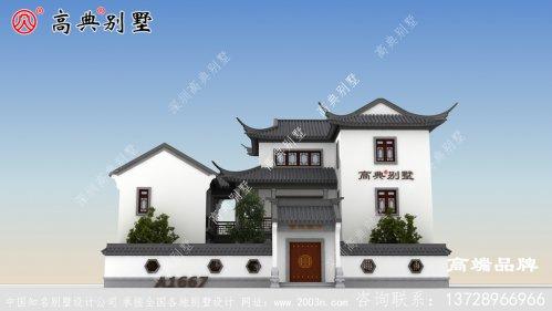 苏式三层别墅效果图,感受中国建