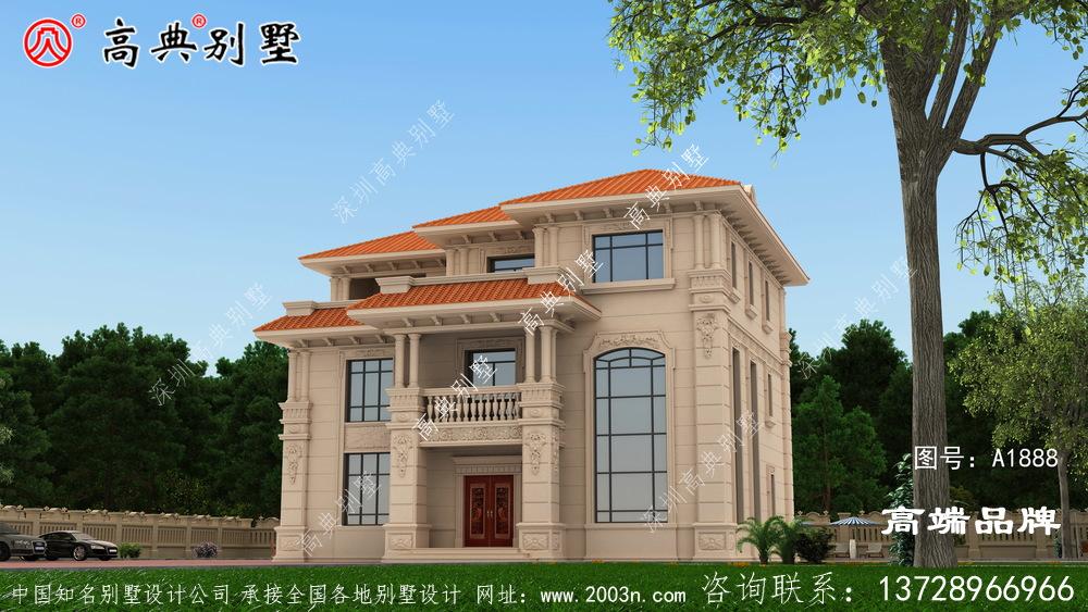 欧式石材三层别墅户型图,经典不过时