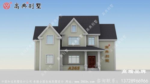 给父母盖一幢两层小别墅,每次回去居住也方便